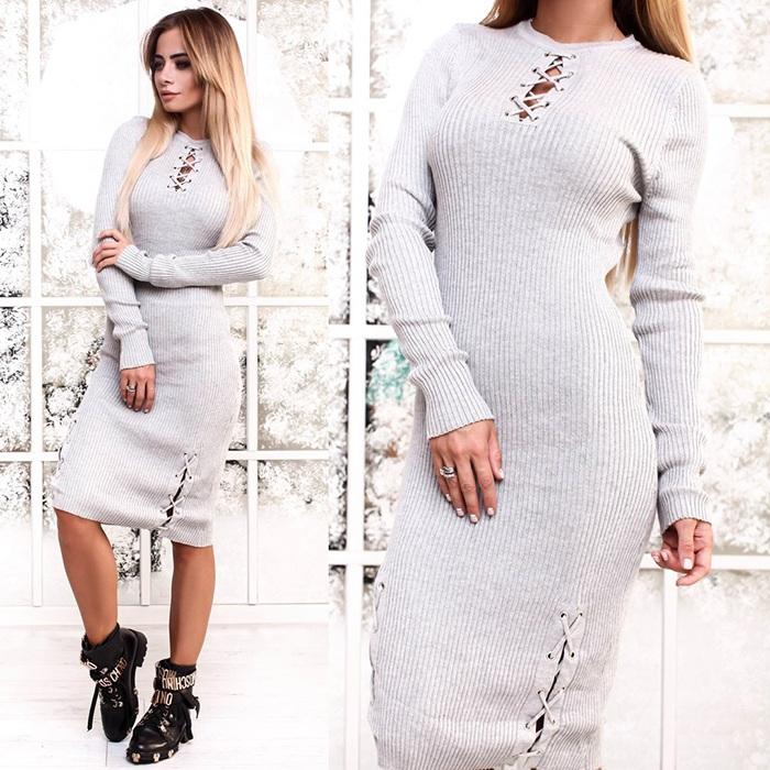 Платье-лапша со шнуровкой