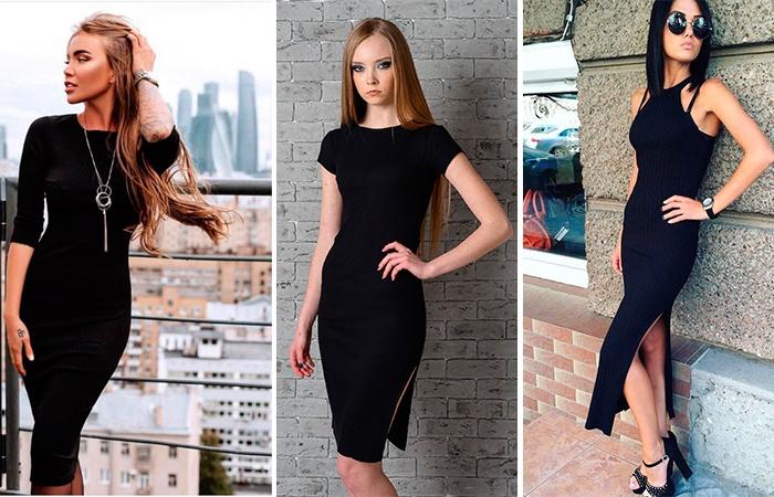 Образы с чёрными платьями