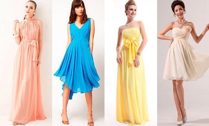 Вечерние платья из воздушных материалов