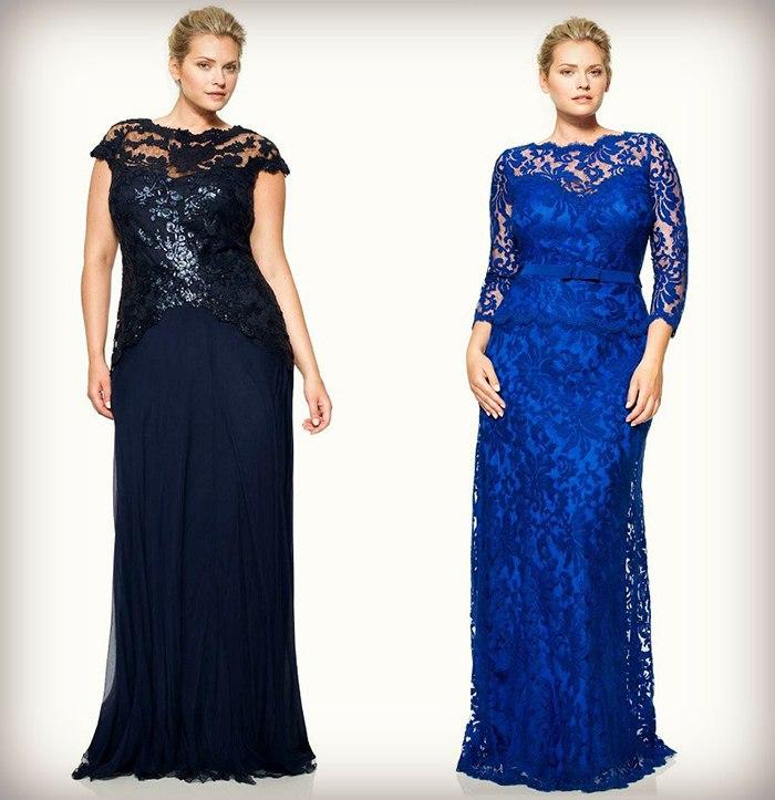 Красивые вечерние платья для полных