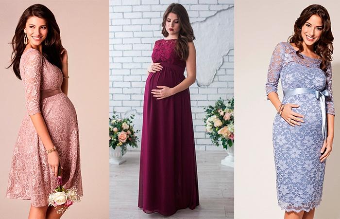 Вечерние платья на свадьбу для беременных
